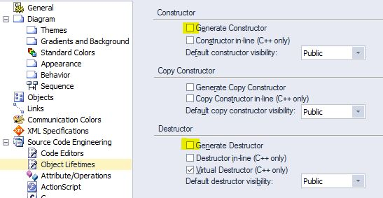 constructor / destructor options in EA